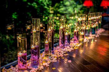 レストラン・ゲストハウスの結婚式のディスプレイ