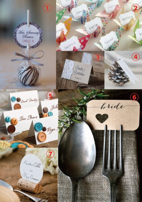 結婚式の席札|手作りアイディア集