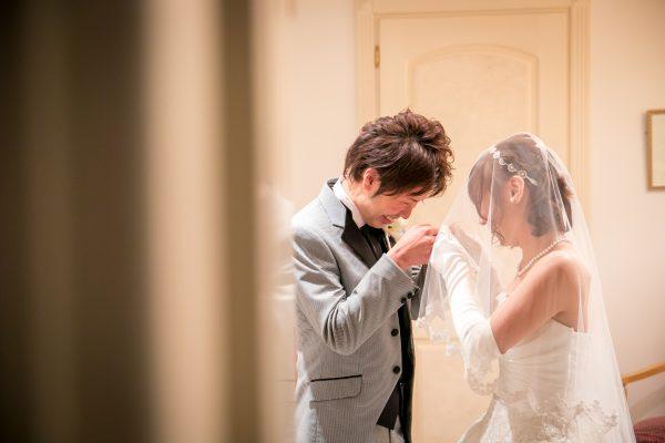 結婚式後の新郎新婦のお二人|札幌コンシェル