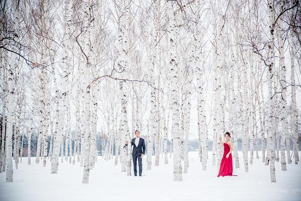 ウエディングフォト|北海道冬|札幌コンシェル