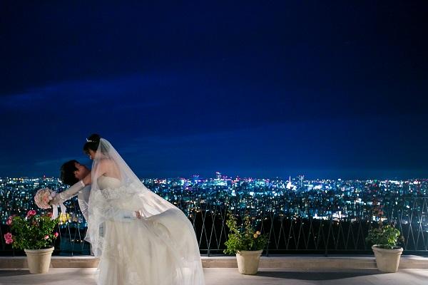 ウエディングフォト 夜景 札幌コンシェル