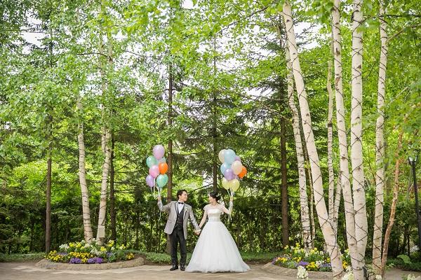 結婚式|札幌|ガーデン|ジャルダンドゥボヌール|幸せの庭|グランマニエ