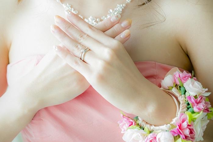 結婚式 ネイル 花嫁