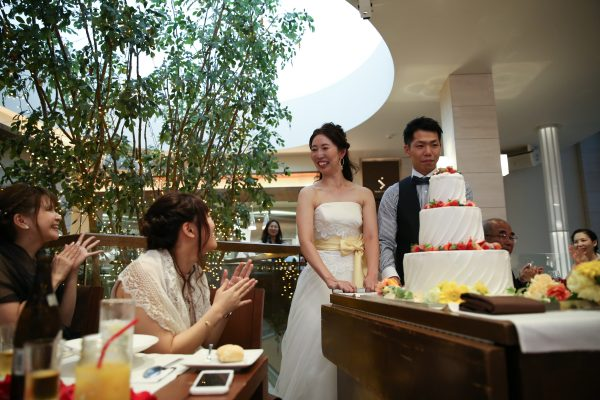 花嫁様の声|センティールラセゾン|ケーキ入場