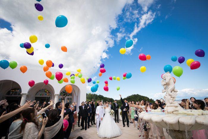 花嫁の声|ピエトラセレーナ|バルーンリリース
