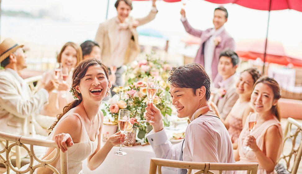 人気リゾート結婚式 ロイヤル ハワイアン ウェディング H