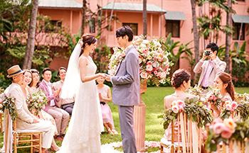 人気リゾート結婚式 ロイヤル ハワイアン ウェディング K