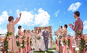 人気リゾート結婚式 ロイヤル ハワイアン ウェディング L