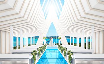 人気リゾート結婚式|古宇利島 空と海の教会|L