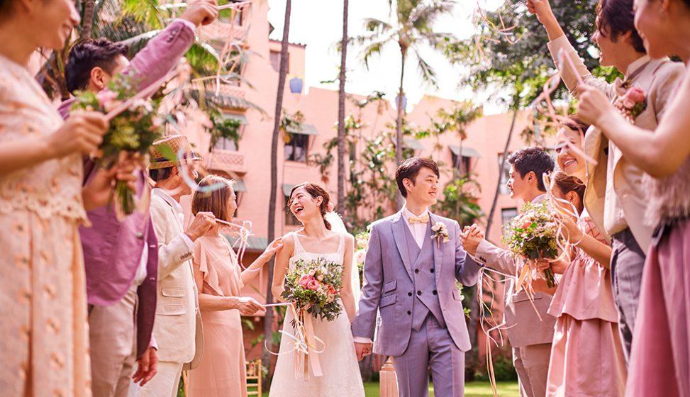 人気リゾート結婚式 ロイヤル ハワイアン ウェディング A