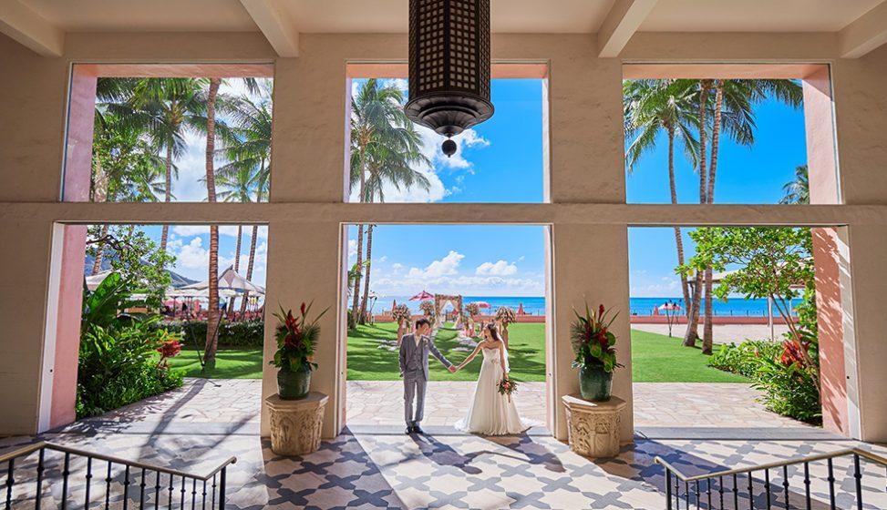 人気リゾート結婚式 ロイヤル ハワイアン ウェディング D