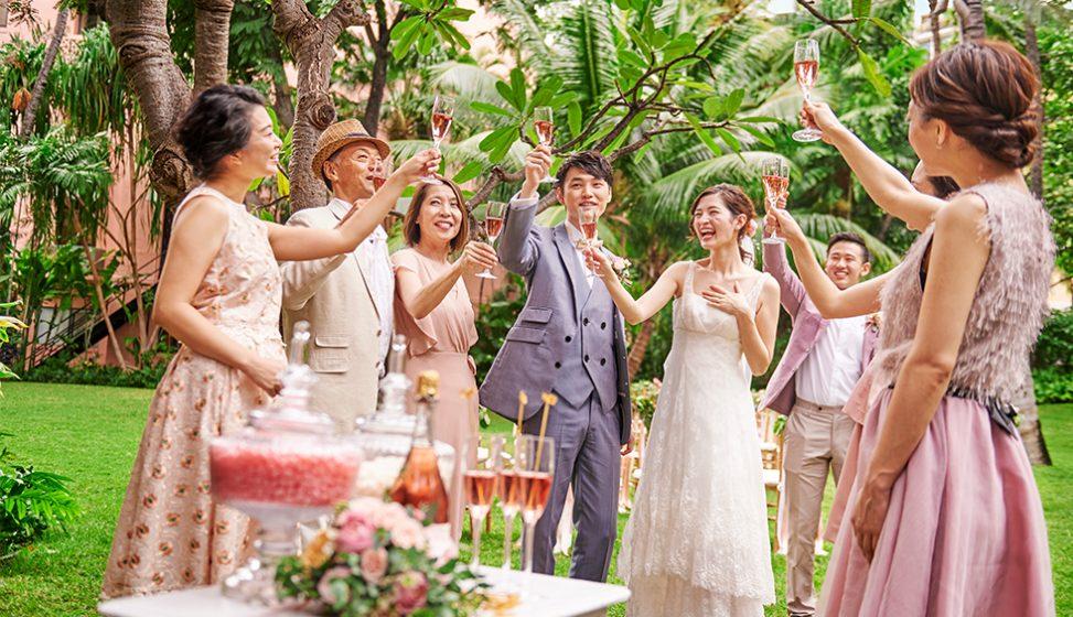 人気リゾート結婚式 ロイヤル ハワイアン ウェディング G