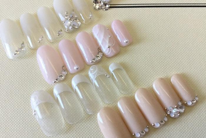 ピンクネイル|花嫁|エレガント