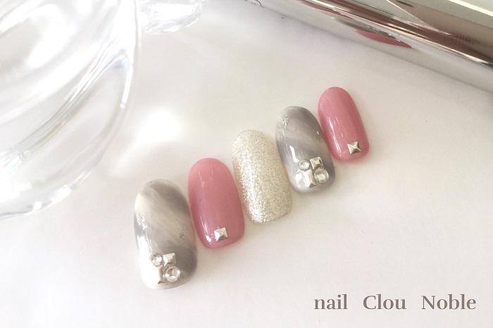ピンクネイル|花嫁|クール