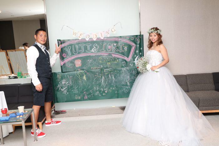 花嫁の声|ホテルオークラ|黒板ショット