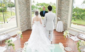 人気リゾート結婚式|ヒルトン・チャペル・ドゥ・オーシャン|K
