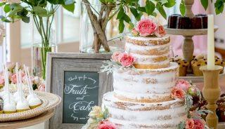 ウェデングケーキ|ネイキッドケーキ|ピエトラセレーナ|札幌|結婚式|札幌コンシェル