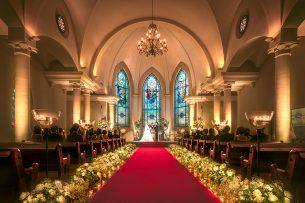 札幌の人気結婚式場|ローズガーデンクライスト教会|A