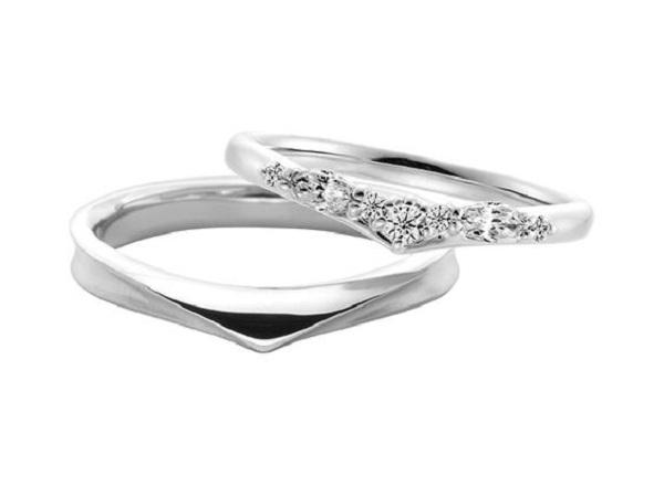 V字|結婚指輪|結婚式|指輪