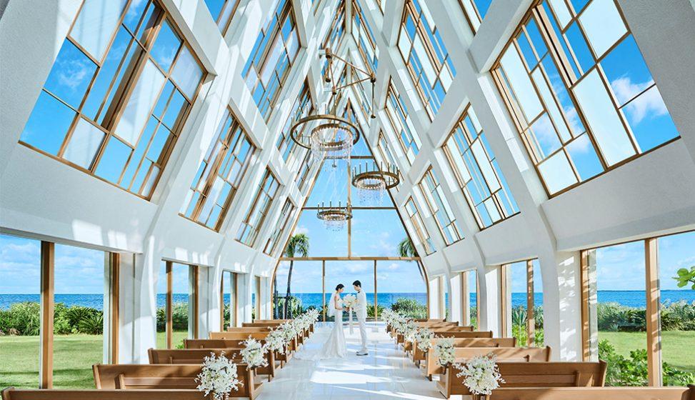 人気リゾート結婚式 ザ・ギノザリゾート 美らの教会 A