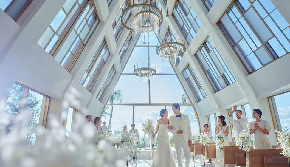 人気リゾート結婚式 ザ・ギノザリゾート 美らの教会 C