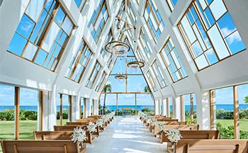 人気リゾート結婚式 ザ・ギノザリゾート 美らの教会 K